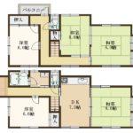 980万円、5DK、土地面積102.58m2、建物面積102.26m2(間取)