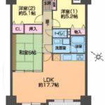 3LDK、価格2280万円、専有面積73.8m2、バルコニー面積9.72m2(間取)