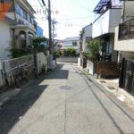 現地(2020年09月)撮影 道路の幅は約5mです  福田小学校・垂水東中学校エリア(周辺)