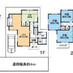2290万円、4LDK、土地面積100.03m2、建物面積82.8m2(間取)