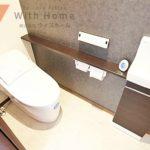 タンクレスでスタイリッシュなデザインのトイレ(内装)